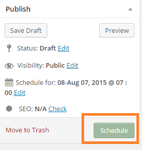 Posting Terjadwal WordPress Scheduled