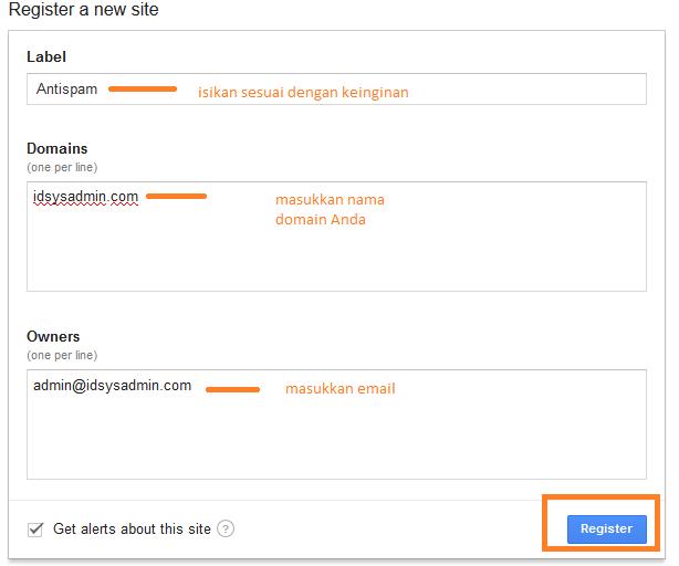 Register antispam