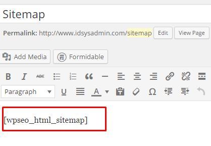 post html sitemap