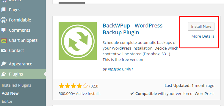 Cara Backup WordPress - Install plugin BackWPup