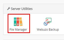 Akses File Manager Webuzo