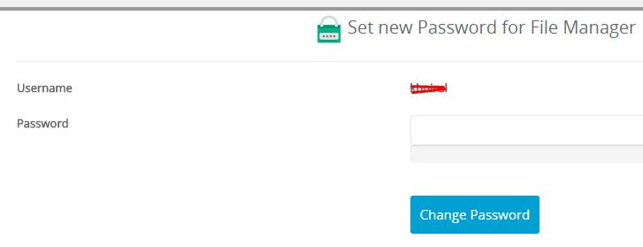 Change Password FTP