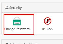Change Password Webuzo