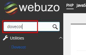 cari aplikasi dovecot webuzo