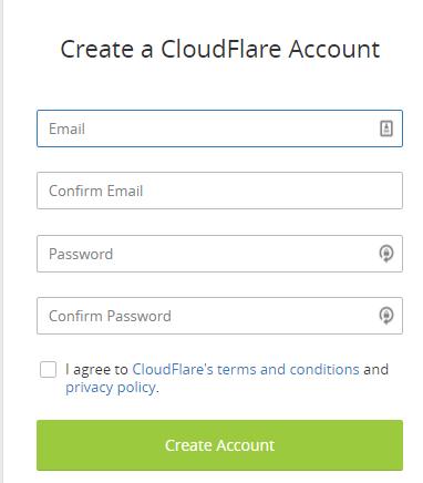 Cara Menggunakan Cloudflare - form pendaftaran cloudflare