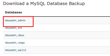 Download Backup MySQL