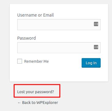 Mengatasi Lupa Password WordPress - lupa password wordpress