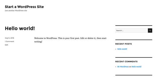 theme default wordpress